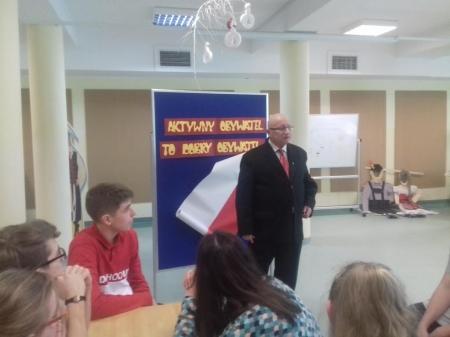 Spotkanie przewodniczącym Rady Miasta Puck - p. Piotrem Kozakiewiczem
