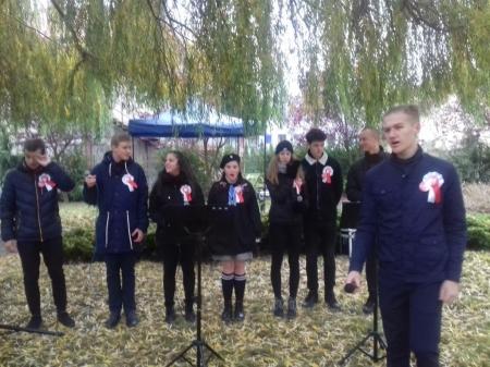 Miejskie uroczystości 100 rocznicy odzyskania przez Polskę niepodległości.