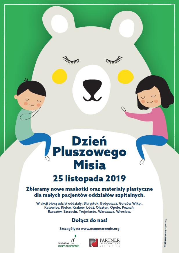 Zbiórka maskotek dla dzieci z oddziałów onkologicznych