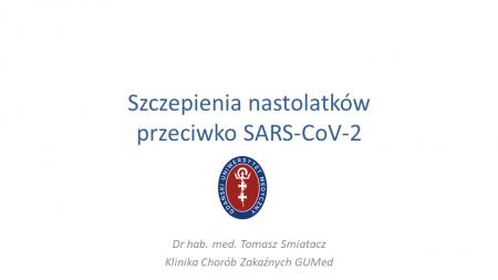 Konferencja - szczepienie uczniów powyżej 12 roku życia